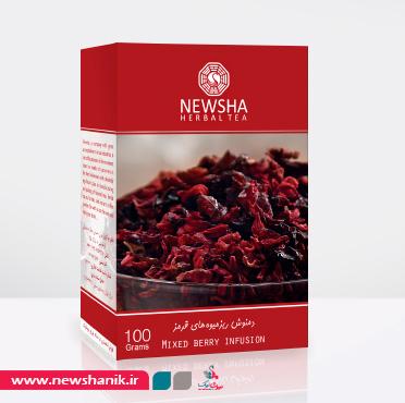 دمنوش ریزمیوه های قرمز 100 گرمی نیوشا